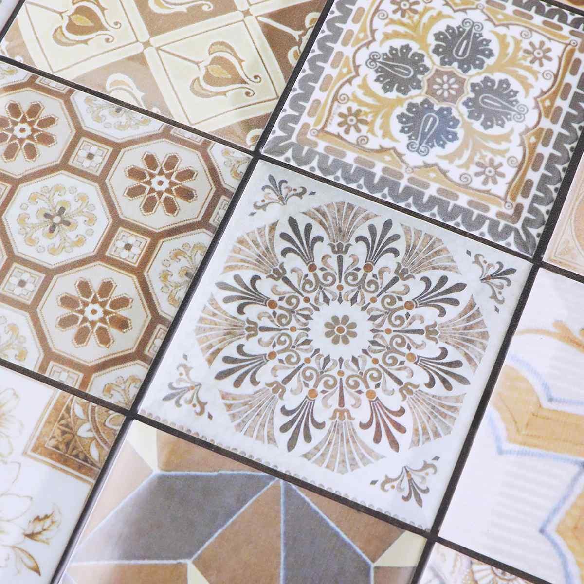 Nouveau 10 pièces/ensemble PVC auto adhésif Stickers muraux 3D pierre papier peint cuisine chambre salon TV fond papier peint décor 30*30 - 4