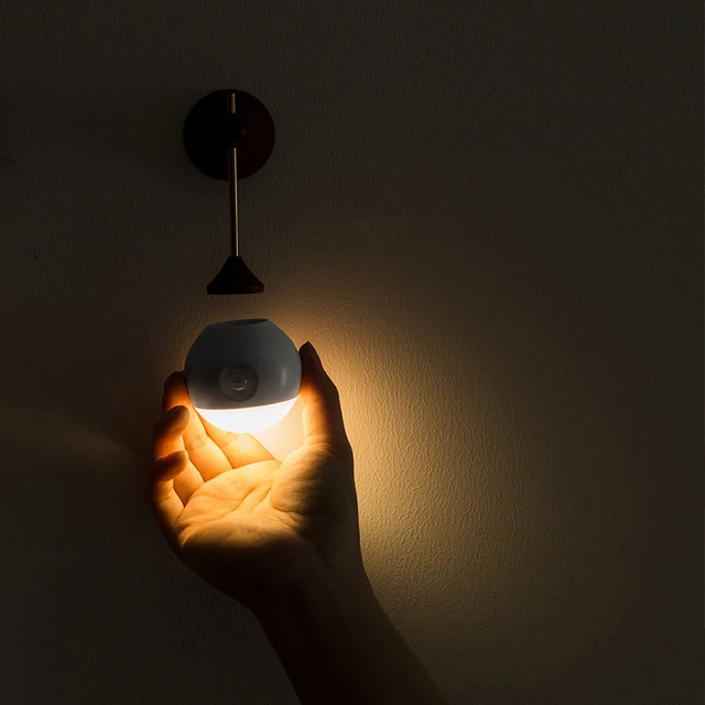 Sothingサニースマートセンサー夜の光の壁ランプ120度赤外線誘導usb充電リムーバブル夜ランプ