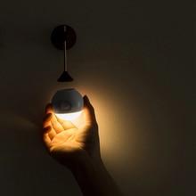 Sothing Soleggiato Intelligente Sensore di Luce di Notte Lampada Da Parete 120 gradi Ad Infrarossi Induzione di Ricarica USB Rimovibile di Notte Della Lampada