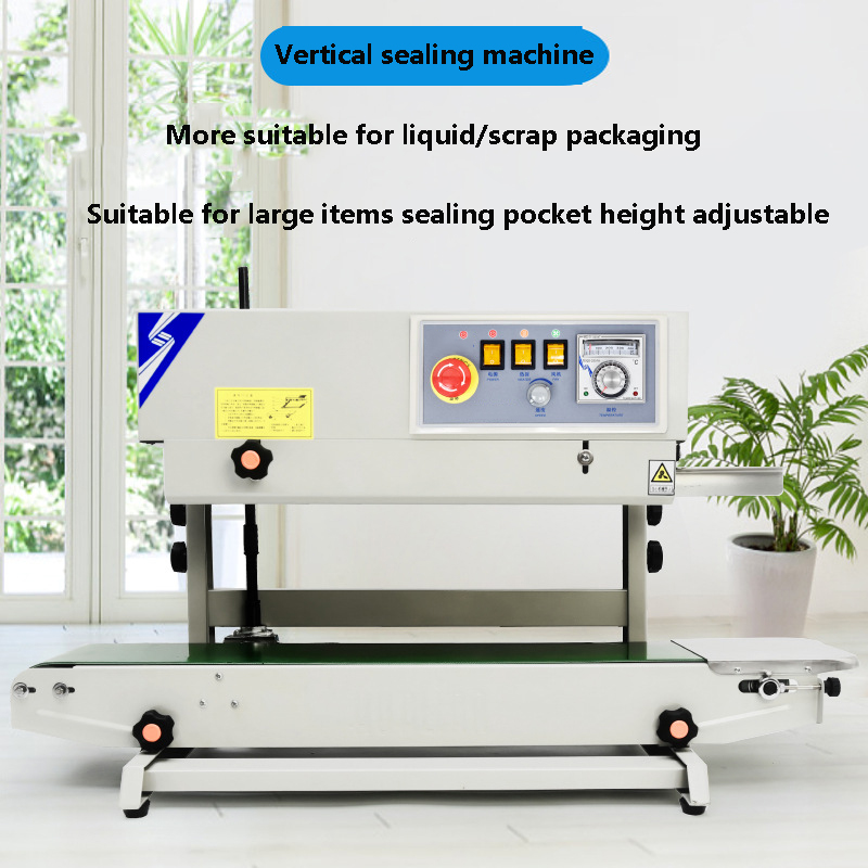 CAI44 Continuous Sealing Machine Multi-function Automatic Sealing Machine Vertical Horizontal Plastic Bag Sealing Machine