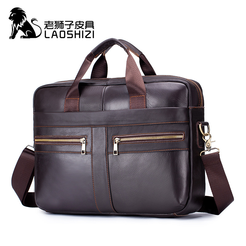 2019 Men's Genuine Leather Briefcase Man Bags Men Briefcase Male Leather Laptop Bag Mens Briefcase Messenger Office Bags For Men