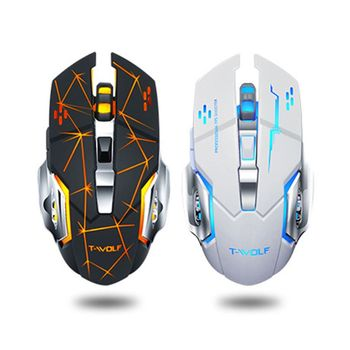 Q13 2.4GHz Wireless Mouse LED Rechargeable Silent Backlight Game 2400DPI Mouse Hot Sale