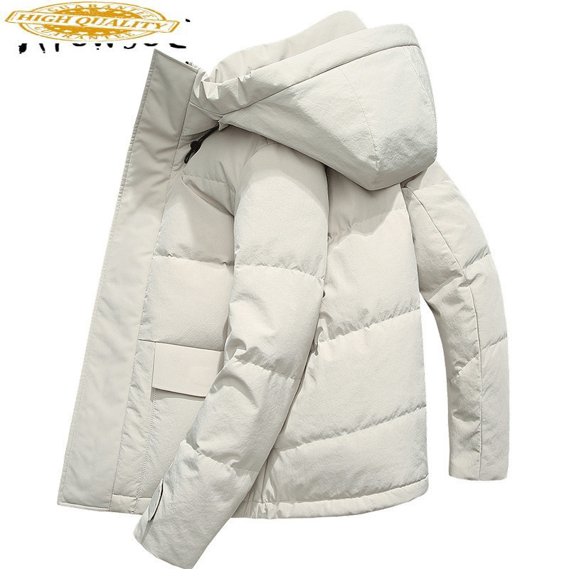 Winter Coat Men 90% White Duck Down Jacket Korean Puffer Jacket Men Hooded Warm Parka Casaco SY19D8651F YY1453