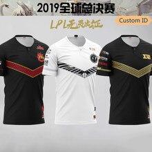 Lol lpl uniforme da equipe fpx ig rng uzi 2019 mundos camiseta nome personalizado fãs t camisa das mulheres dos homens camisetas skt camisa