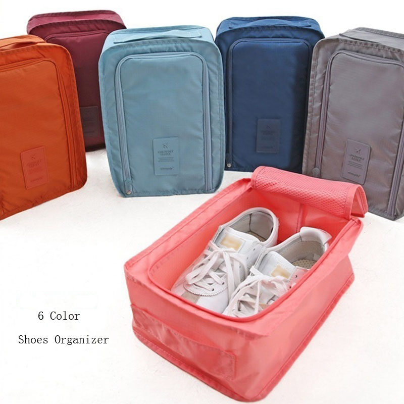 6 Color Traveling Shoes Organizer Pouch Storage Easy Zipper Bag Waterproof Laundry Storage Set