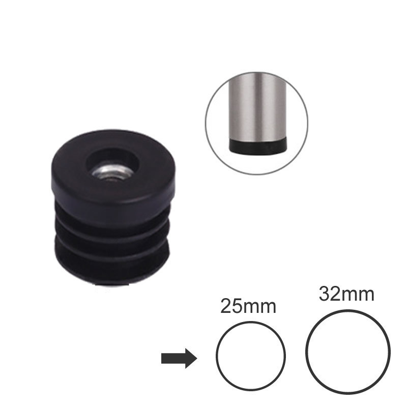 10pcs Thread Plastic Furniture Leg Plugs With Nut Blanking End Caps Insert Plugs Chair Leg Anti-slip Mat 20x20mm Furniture Parts