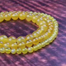 Fashion jewelry 4/6/8/10/12mm Yellow Agate, suitable for making jewelry DIY bracelet necklace