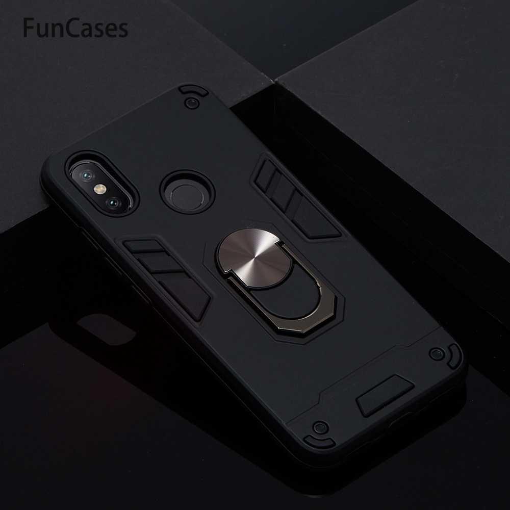 Car Holder Stand PC + Caso di TPU Per estojo Xiaomi 6X Sacchetto Del Telefono Nuovo Cellulare Casi Sacchetto di Kryty sFor Xiaomi fonda A2 Ajax Xaomi