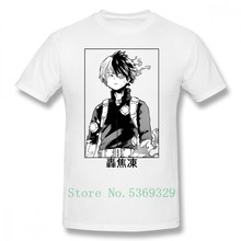 Deku T Shirt Todoroki Shoto T-Shirt Cute Graphic Tee Shirt 100% Cotton Man Short Sleeves Big Tshirt(China)