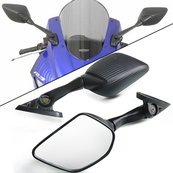 Motorbike Side Mirrors For Yamaha YZF R25 R15 R3 YZF-R3 YZF-R25 YZF-R15 YZFR3 YZFR15 YZFR25 Mirrors Rear View Mirror Carbon Look motorcycle accessories motorbike side mirrors blind spot rearview mirrors for yamaha yzf r3 r25 2015 2017 yzf r3 yzf r25