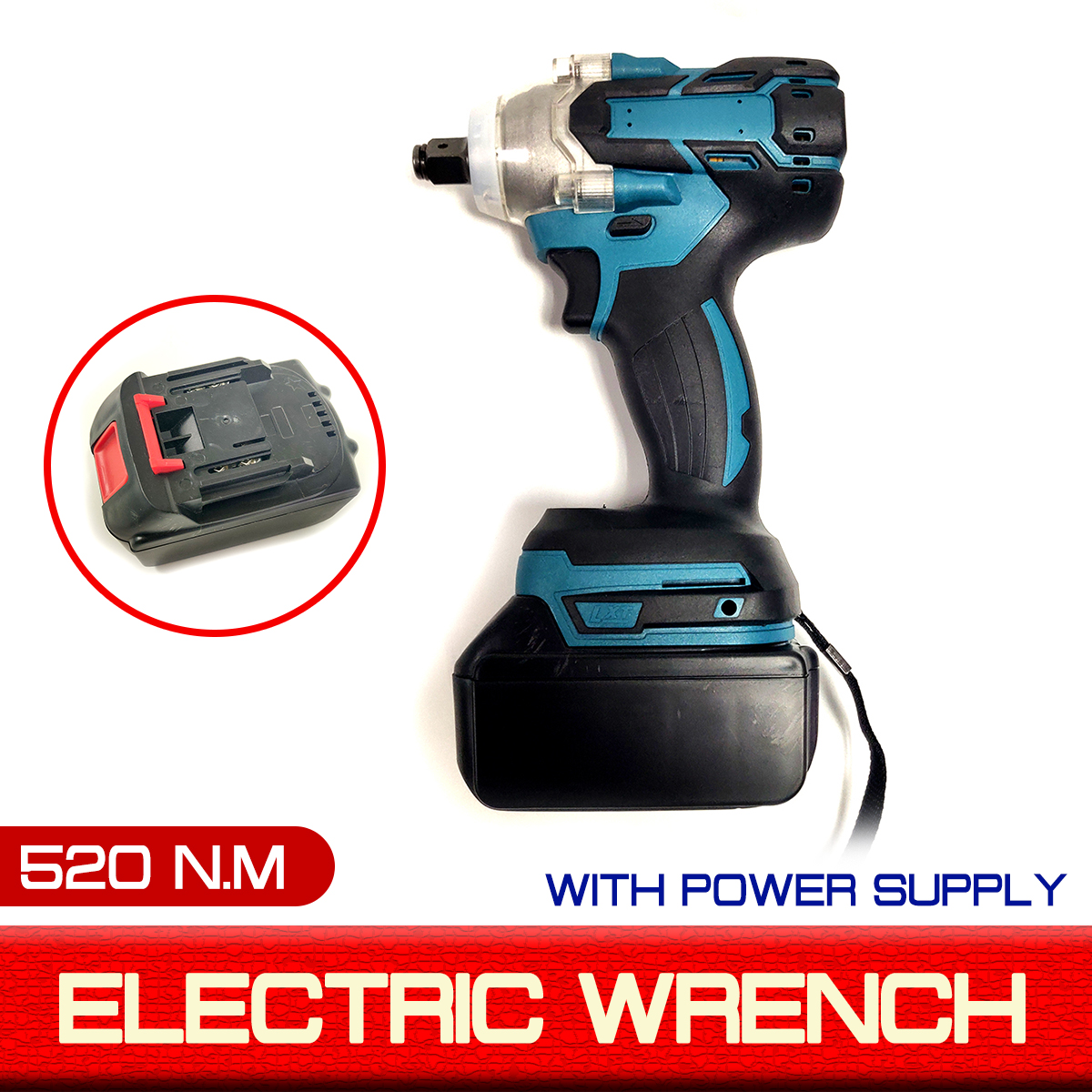 520Nm 18V Electric Wrench Brushless Impact Rechargeable Cordless 1/2 Socket Wrench Power Tool For Makita Battery DTW285Z