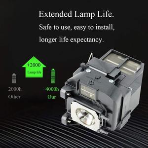 Image 3 - Lampa projektora dla ELPLP75 do projektora EPSON EB 1940W EB 1945W EB 1950 EB 1955 EB 1960 EB 1965 H471B PowerLite 1940W z obudową