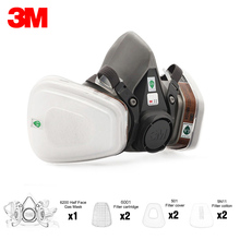 3M Mask 6200 19 In 1 PM2.5 Industrial Gas Mask Half Face Painting Spraying Respirator Safety Work Filter Dust Mask Dust Proof
