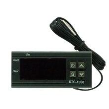 Controlador de temperatura Digital, termostato termorregulador para incubadora, relé LED 10A, STC 1000 de refrigeración de calefacción, 12V 24V 220V