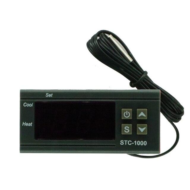 Dijital sıcaklık kontrol cihazı Termostat Termoregülatör inkübatör için Röle LED 10A Isıtma Soğutma STC 1000 12V 24V 220V
