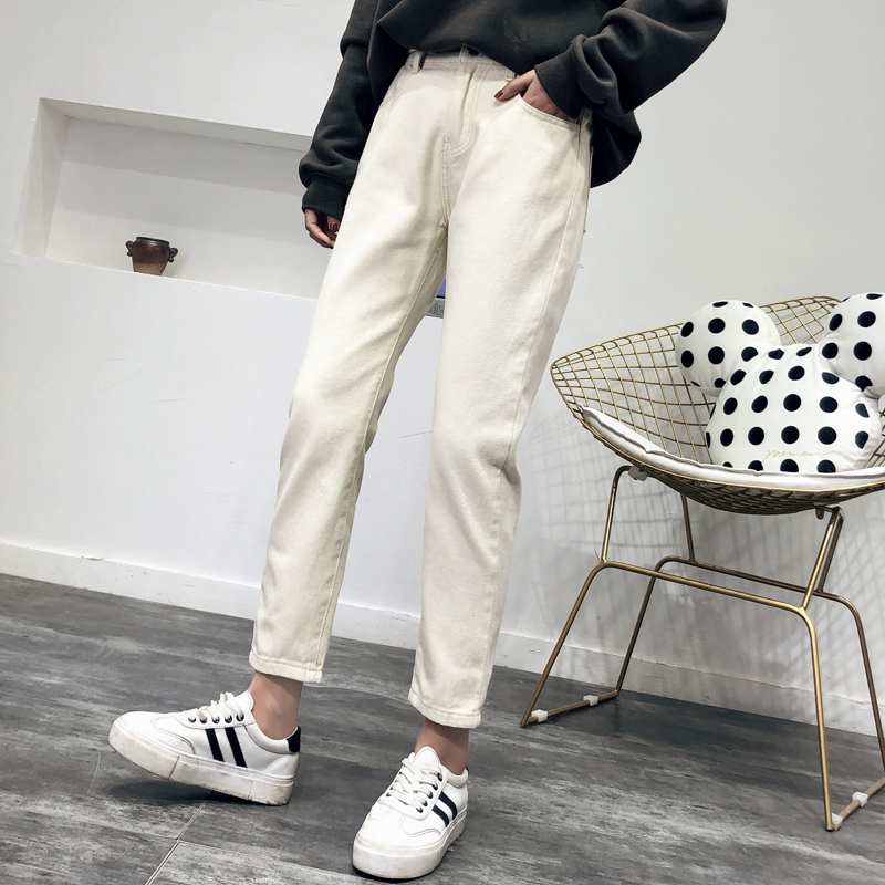 Harem Jeans Women Streetwear High Waist Mom Jeans Cowboy Vintage Ladies Denim Pants Casual Trousers Boyfriend Jeans Bottoms