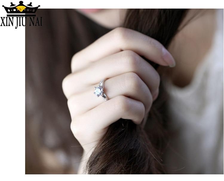 925 anillos Silver Solitaire แหวนผู้หญิง Micro Pave Cubic Zirconia แหวน Eternity แหวนหมั้นเพชรเครื่องประดับ