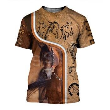 Tessffel Animal Love Racing Horse Funny Casual NewFashion Harajuku 3DPrint Summer Streetwear man's top T-shirts Short Sleeves s8 1