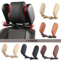 Cojín para reposacabezas de cuello de coche, solución de soporte para asiento en forma de U, accesorios para coche, almohada en forma de interior para niños y adultos