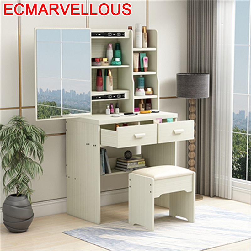 Penteadeira De Maquiagem Toaletka Mdf Vanity Makeup Box Chambre Schminktisch Bedroom Furniture Korean Quarto Dressing Table
