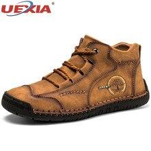2020 Fashion Spring Autumn Leather Men Boots Handmade Top Quality Platform Luxur