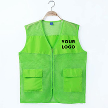 Vests Safety-Clothes Uniform Workwear Customized-Design Male Women Sleeveless Solid Print-Your-Own-Logo