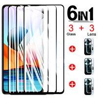 Vetro protettivo temperato 6 in 1 per Xiaomi Redmi Note 10 Pro Note 10S 10 5G pellicola salvaschermo pellicola per obiettivo Note10 Pro Glass