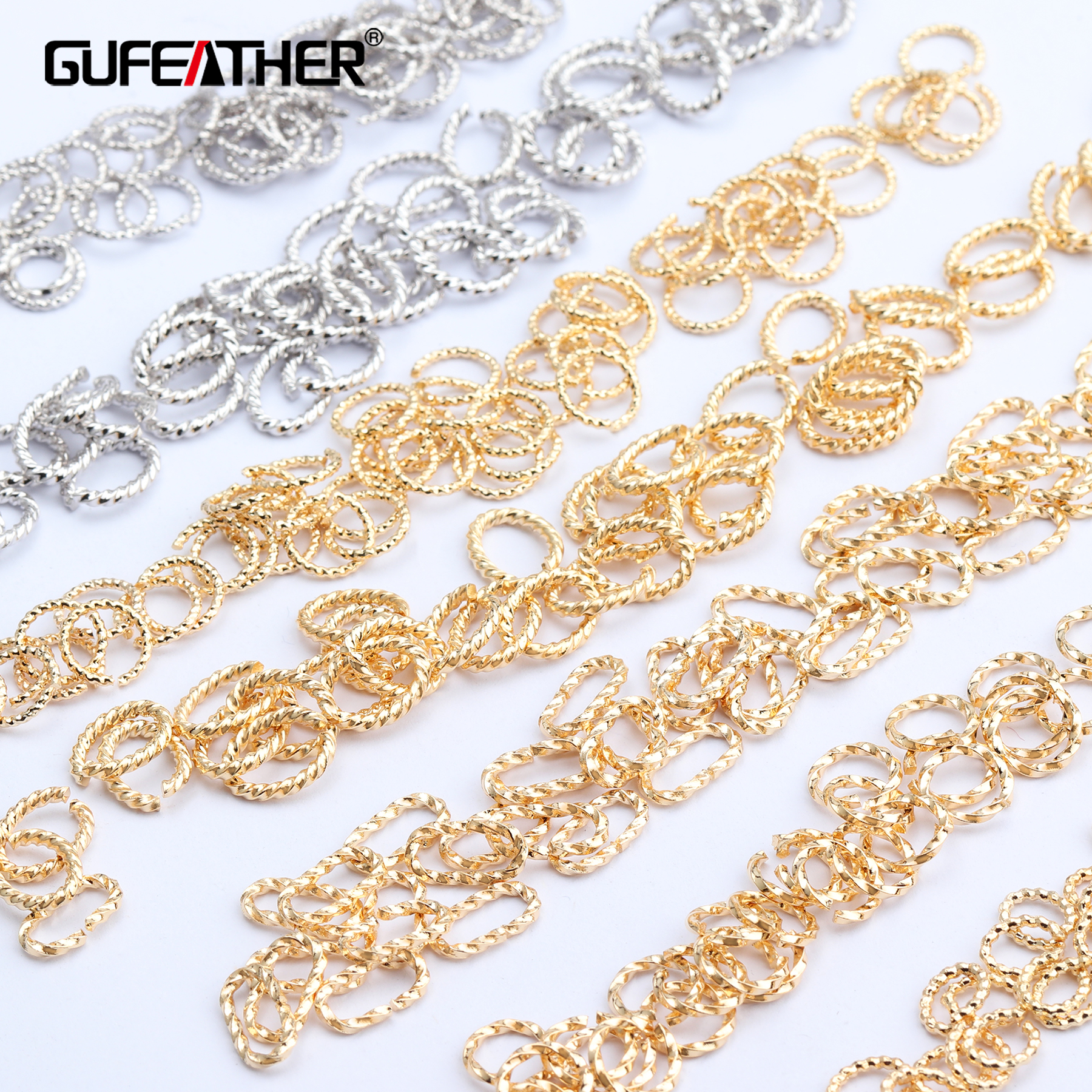 GUFEATHER M603,jewelry Accessories,18k Gold Plated,rhodium Plated,handmade,jump Ring,diy Earring Necklace,jewelry Making,20g/lot