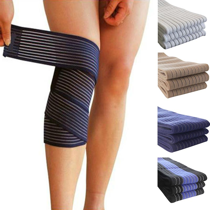 Hot Elastic Bandage Compression Knee Support Sports Strap Knee Protector Bands Ankle Leg Elbow Wrist Calf Brace Safety 40~180cm