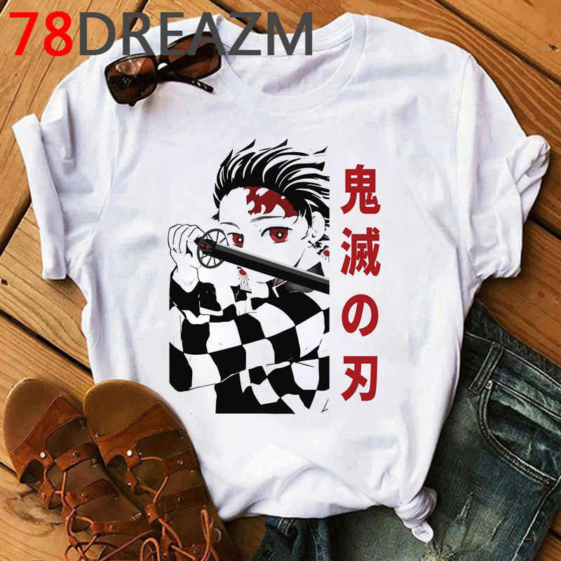 Demon Slayer T-shirt Mannen Kimetsu Geen Yaiba Kawaii Anime Demon Blade Cartoon Blade Van Ghost Tshirt Ghost Blade Grafische tees Man