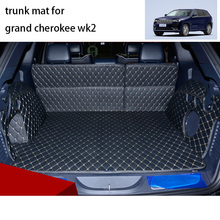 lsrtw2017 for jeep grand cherokee wk2 leather car trunk mat cargo liner 2011 2012 2013 2014 2015 2016 2017 2018 2019 accessories