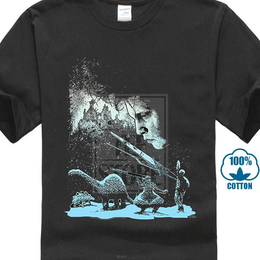 Дизайн лучшие продажи мужские футболки летний Стиль Мода Swag мужские футболки S 3Xl Эдварда ножницы Эдварда с скульптурами