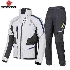 Image 5 - SCOYCO Autumn Winter Motorcycle Jacket Men Waterproof Windproof Moto Riding Racing Motorbike Suit Protective Gear,JK108