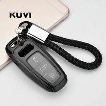 PC + TPU osłona na kluczyki samochodowe etui na klucze obudowa pilota dla Audi A6 C8 A7 A8 2018 2019 etui na klucze akcesoria do stylizacji samochodów tanie tanio Kuvi