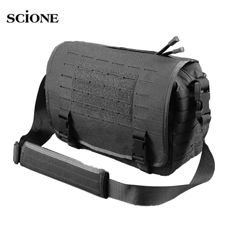 Laser Molle Military Laptop Bag Tactical Bags Computer Backpack Messenger Fanny Belt Shouder Camping Outdoor Sports Pack XA92A