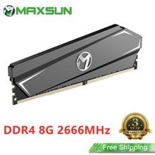 MAXSUN tam yeni PC Ram bellek DDR4 8GB 2666MHz 3 yıl garanti 1.2V 288Pin arayüzü Memoria Ram DDR4 modülü bilgisayar masaüstü