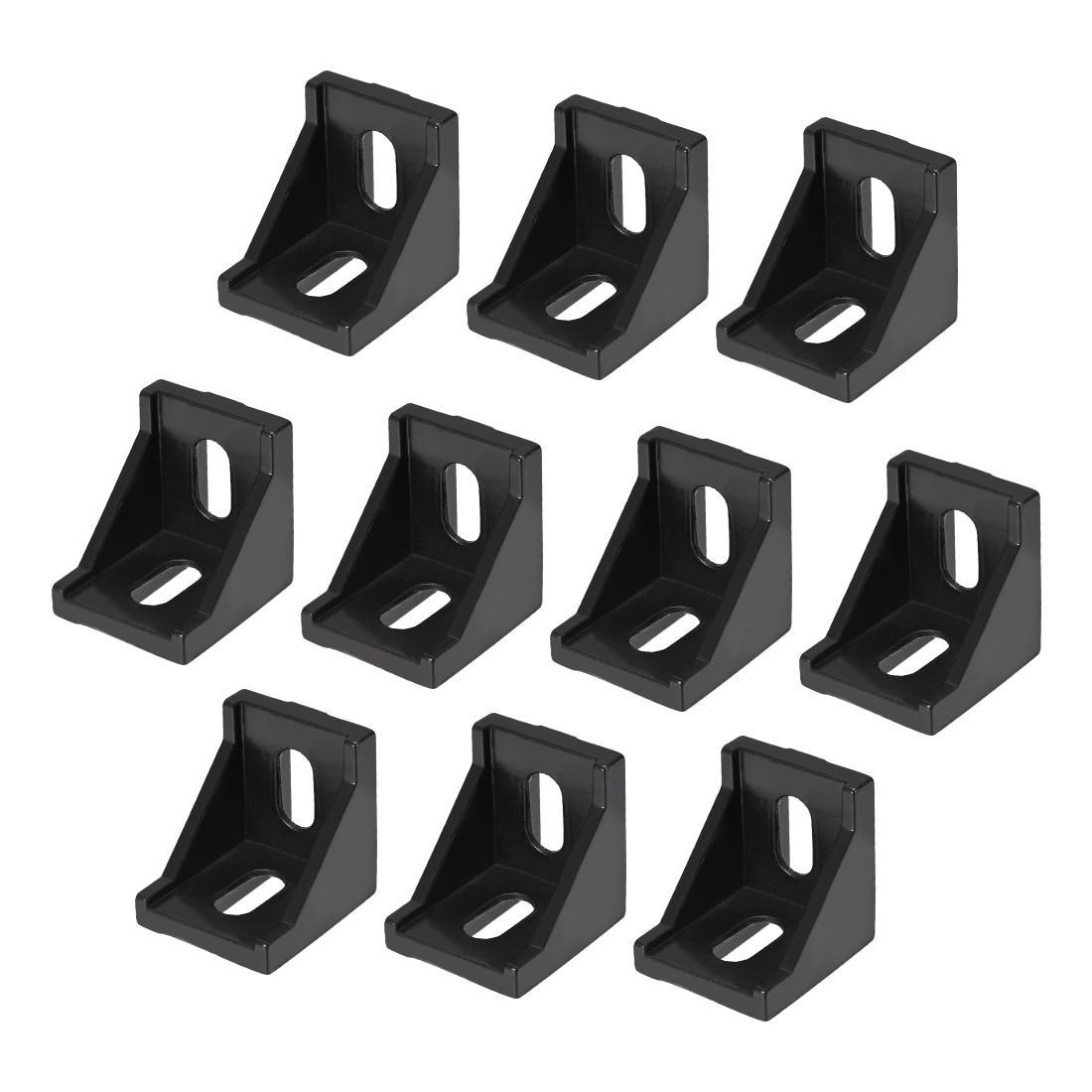 Uxcell Corner Bracket For 4040 Series Aluminum Extrusion Profile, 10 Pcs (Black)