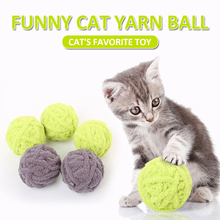 1pcs High-quality Wool Yarns Pet Cat Rolling Ball Toys Kittens Scratch Ball Toys for Solving Boredom Pet Cat Interactive Toys