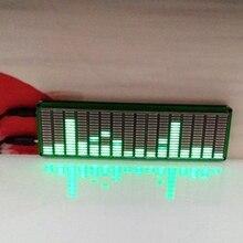 AABB-16 уровень светодиодный музыкальный аудио спектр индикаторный усилитель доска зеленый цвет скорость регулируемый режим АРУ DIY наборы