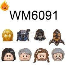 Estrela filme wm6091 figura de ação blocos de construção brinquedos C-3PO tarfful paz vizla moc figuras cabeça dos miúdos brinquedos para crianças meninos tijolos