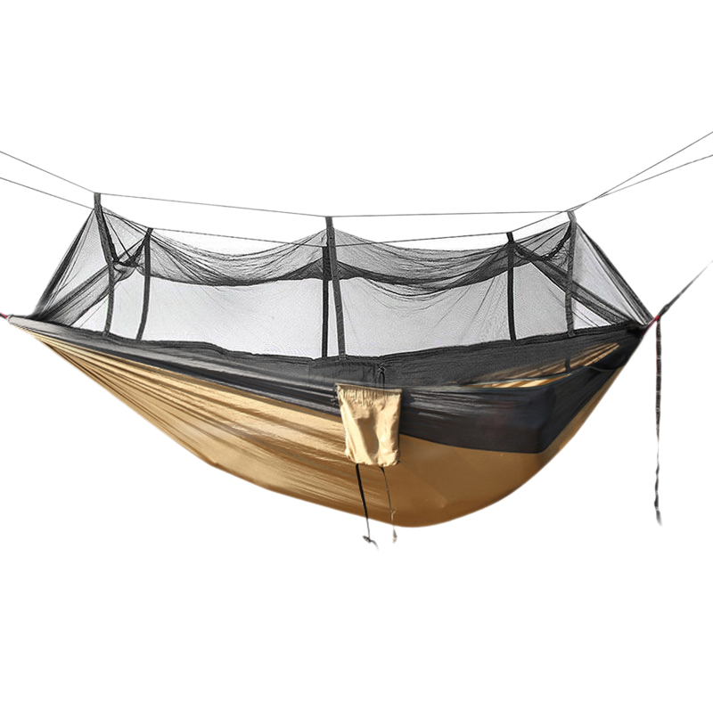 Outdoor Camping Hammock With Mosquito 1 2 Person Hanging Sleeping Bed Multiuse Portable Hammock For Hiking Camping|Tent Accessories| |  - title=