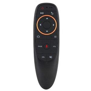 Image 2 - Controllo vocale Wireless Air Mouse Remote Control 2.4G Giroscopio di Apprendimento A Infrarossi Microfono Per Android TV Box