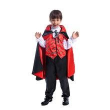 Страшный костюм вампира косплей для детей Дракула темный принц