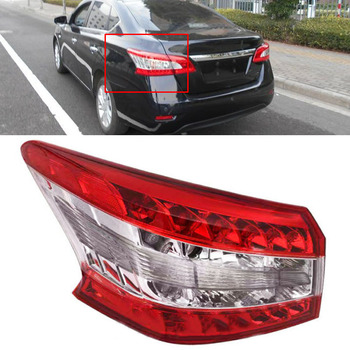 CITALL Car Auto Left Outer Tail Rear Brake Lamp Light 265553SG0A Fit for Nissan Sentra 2013 2014 2015