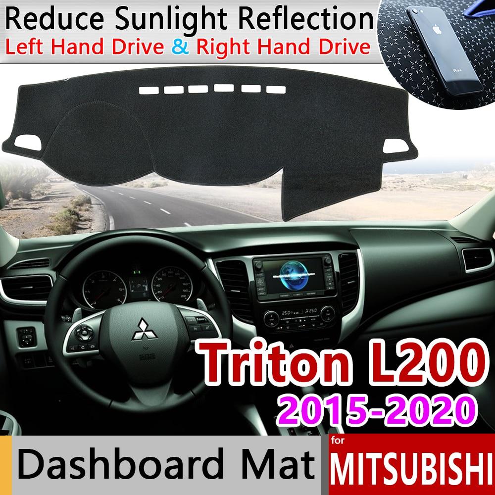 Противоскользящий коврик для Mitsubishi L200, противоскользящий козырек от солнца на приборную панель