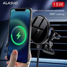 Chargeur sans fil magnétique Qi 15W pour voiture, support de chargement sans fil pour iPhone 12 / 12 pro max, aimant puissant intégré