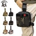 Тактическая Сумка для ног  Западная сумка  водонепроницаемая военная сумка  система Molle  набор первой помощи  медицинская сумка для походов  ...