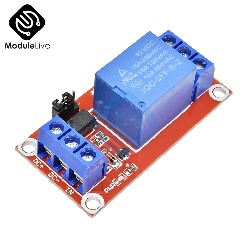 One 1 Channel DC 12V Relay Module Board Shield With Optocoupler Support High And Low Level Trigger Module For Arduino