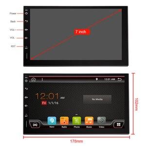 Image 5 - Eunavi 2 Din Автомобильный мультимедийный плеер GPS Радио Аудио Авто Универсальная навигация IPS сенсорный экран сабвуфер для Nissan Toyota WIFI