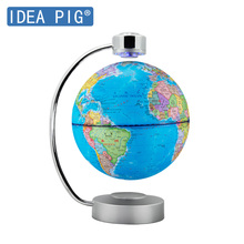 Learning Toys 88 Constellations Magnetic Levitation Geography Globe with Night Light Floating World Map LED  Children